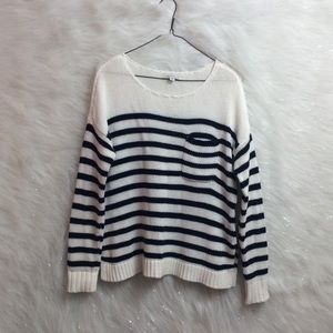 American Eagle | slouchy knit striped sweater.